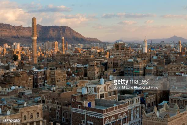 View of Saana cityscape, Yemen