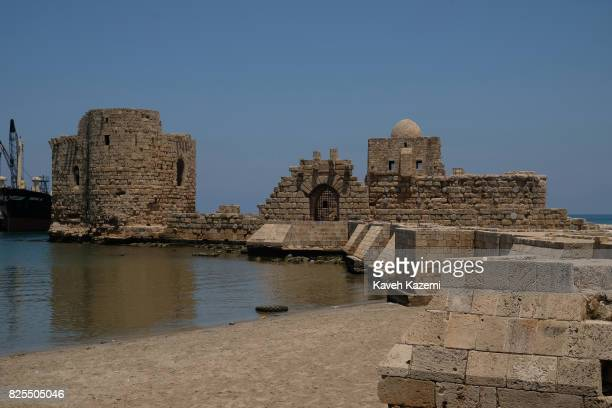 A view of Saida's Sea Castle an ancient monument built by crusaders on June 3 2017 in Saida Lebanon Saida or Sidon is the third largest city in...