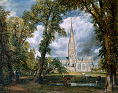 View Of Salisbury Cathedral From The Bishop's Grounds' Wiltshire circa 1822