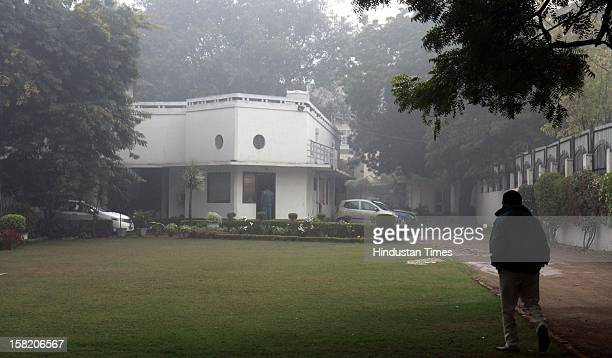 View of Salman Rushdie's bungalow at 4 Flagstaff Road in Civil Lines on December 11 2012 in New Delhi India The Supreme Court has ordered the Salman...