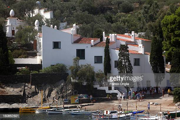 A view of Salvador Dali's Villa of Port Ligat on August 18 2012 in Cadaques Spain Cadaques is on a bay in the middle of the Cap de Creus peninsula on...