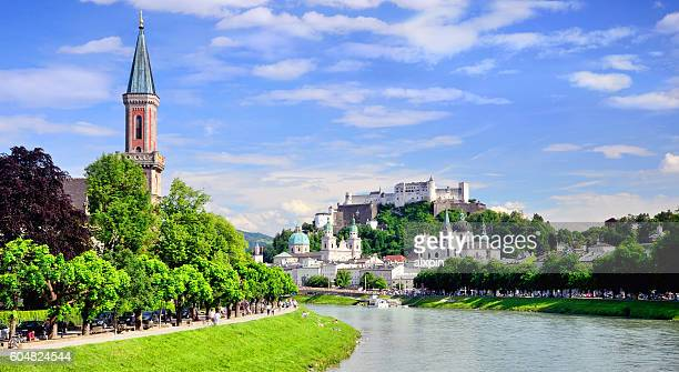 view of salzburg - salzburger land stock pictures, royalty-free photos & images
