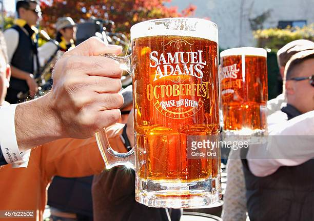 A view of Samuel Adams at Oktoberfest sponsored by The Village Voice presented by Jagermeister hosted by Andrew Zimmern during the Food Network New...