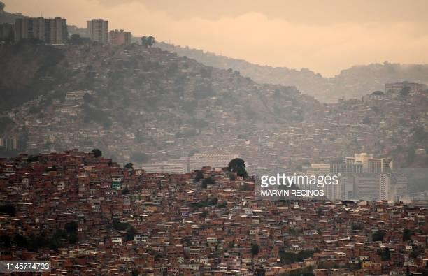 View of San Agustin neighbourhood in Caracas taken on May 23, 2019.