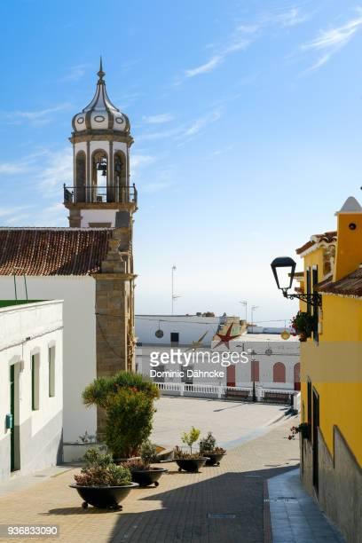 View of 'San Antonio de Padua' church, at Granadilla de Abona town, in south of Tenerife island (Canary Islands)