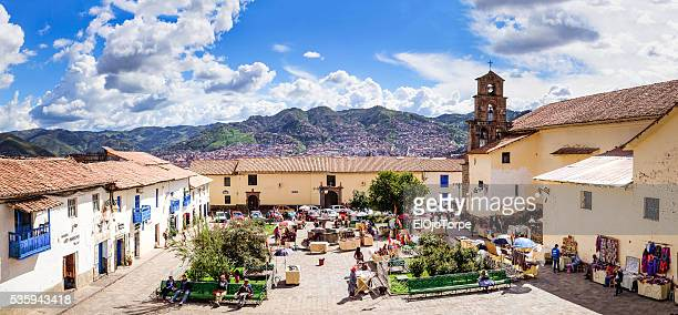 View of San Blas square, Cuzco, Peru