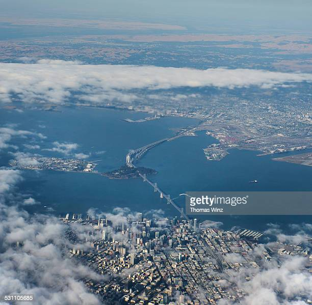 View of San Francisco  and the Bay Bridge