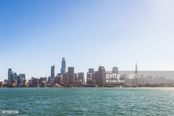 View of San Francisco business district skyline in California, USA