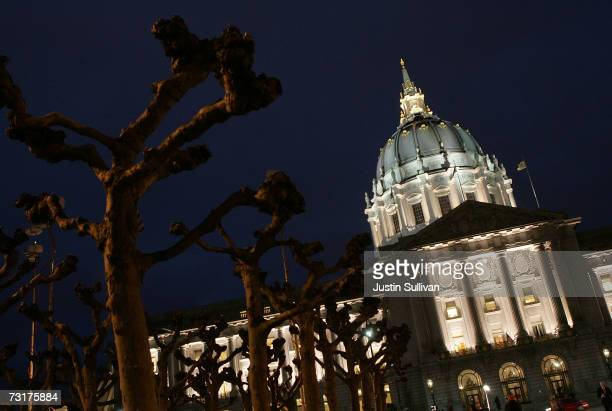A view of San Francisco City Hall February 1 2007 in San Francisco San Francisco Mayor Gavin Newsom admitted to an affair with Ruby RippeyTourk the...