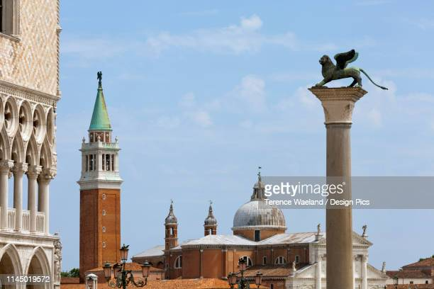 view of san giorgio maggiore from piazzetta, near st. marks square - terence waeland stock pictures, royalty-free photos & images