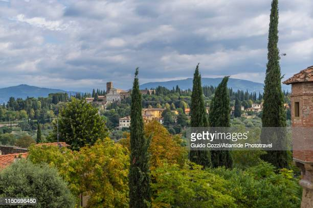 view of san miniato al monte from forte belvedere - san miniato stock pictures, royalty-free photos & images