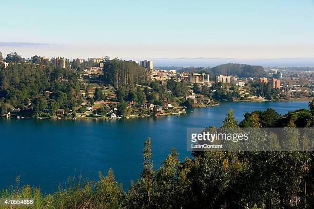 View of San Pedro Lake on June 13th 2014 in Concepcion Chile Concepcion is one of the eight host cities of the next Copa America Chile 2015 which...