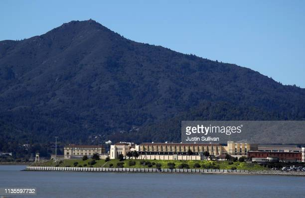A view of San Quentin State Prison on March 13 2019 in San Quentin California California Gov Gavin Newsom announced that he has signed an executive...