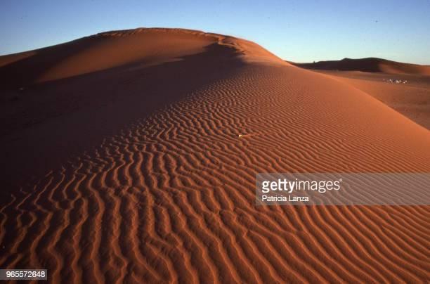 View of sand dunes in the Kalahari Desert Botswana 1985