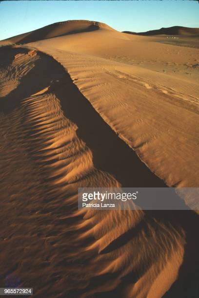 View of sand dunes in the Kalahari Desert South Africa 1985