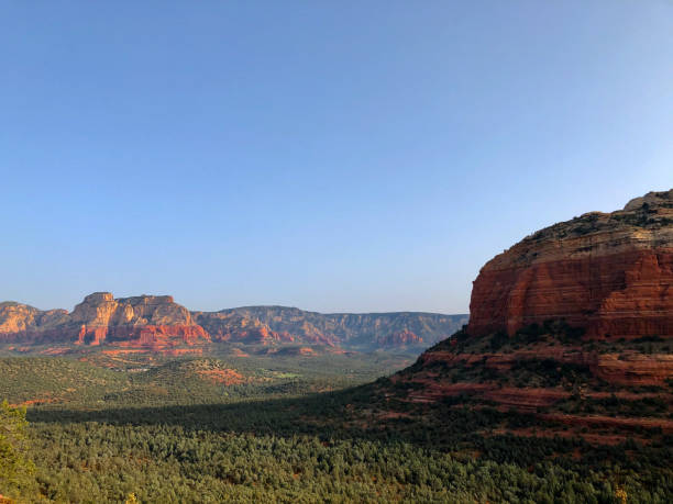 View of sandstone rock formations from Devil's Bridge Trail