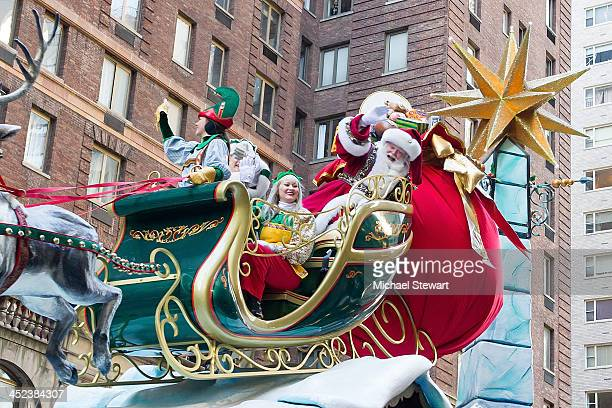 A view of Santa Claus during the 87th annual Macy's Thanksgiving Day parade on November 28 2013 in New York City