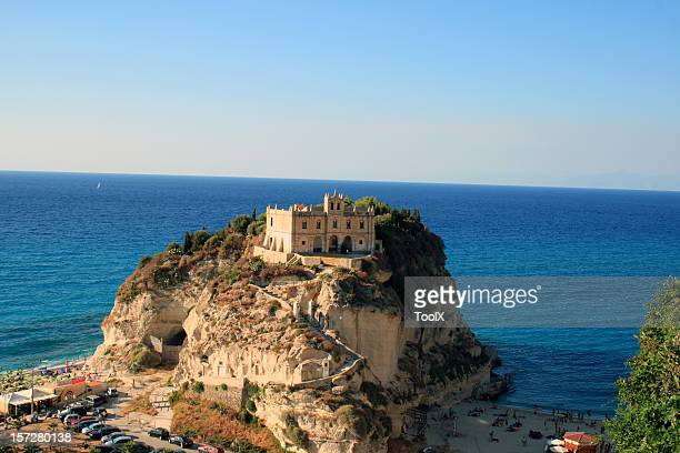 View of Santa Maria dell'Isola, Tropea in Calabria, Italy
