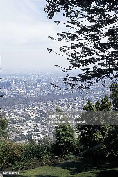 View of Santiago Chile from Cerro San Cristobal
