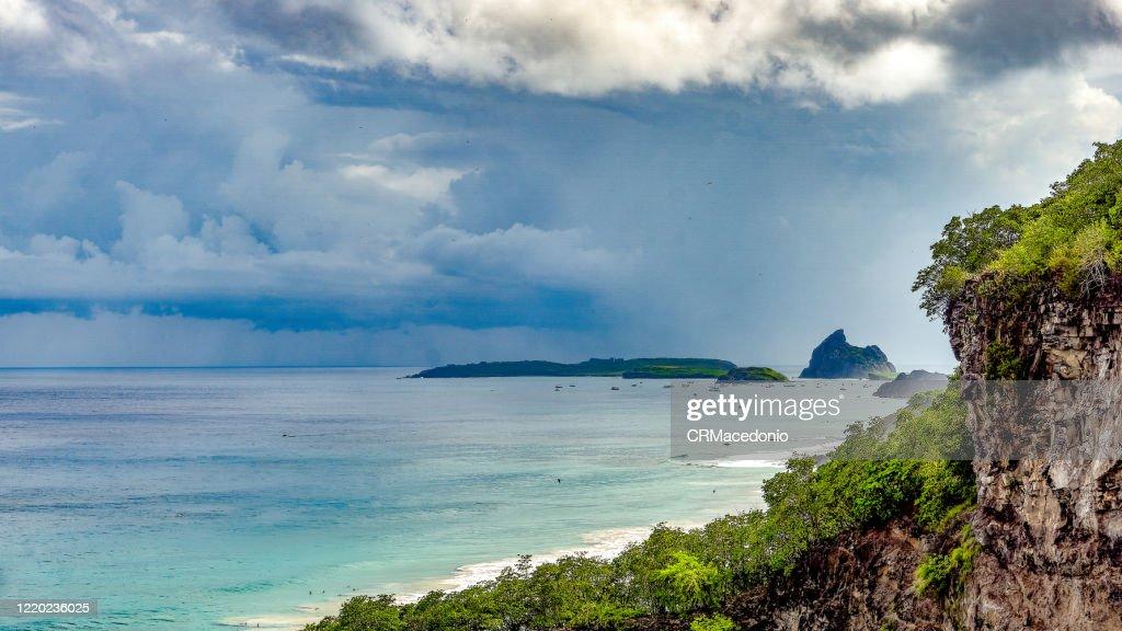 View of Santo Antonio Bay. : Stock Photo