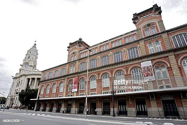 A view of Sao Paulo's Pinacoteca do Estado museum which was robbed by heavily armed thieves on June 12 2008 in Sao Paulo Thieves stole two engravings...