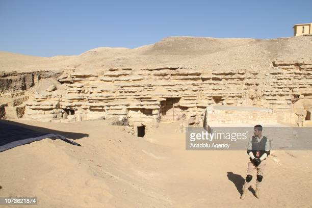 A view of Saqqara excavation site after a 4400YearOld Tomb belonging to Pharaohs era has been discovered in Giza Egypt on December 15 2018