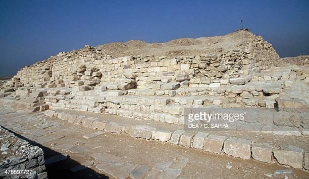 View of Saqqara Necropolis Memphis Egypt Egyptian civilisation Old Kingdom Dynasty III