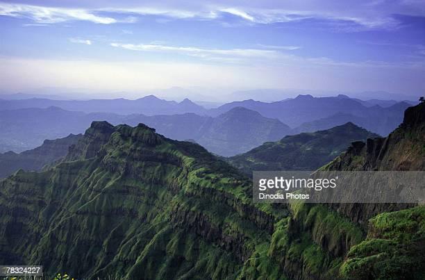 view of satpura mountain range, india - mountain range stock pictures, royalty-free photos & images