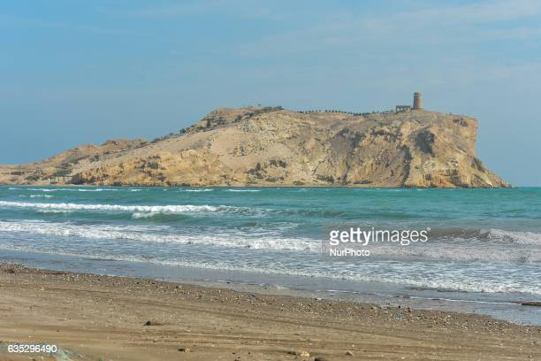 A view of Sawadi Island with a fort from Al Sawadi beach Al Sawadi is a resort area located 100km from Muscat one of the most famous places in Oman...