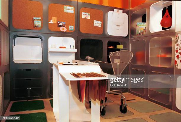 A view of Scott Adams' 'Dilbert's Ultimate Cubicle' which offers practical and humorous concepts for the future workplace office Tuesday August 28...
