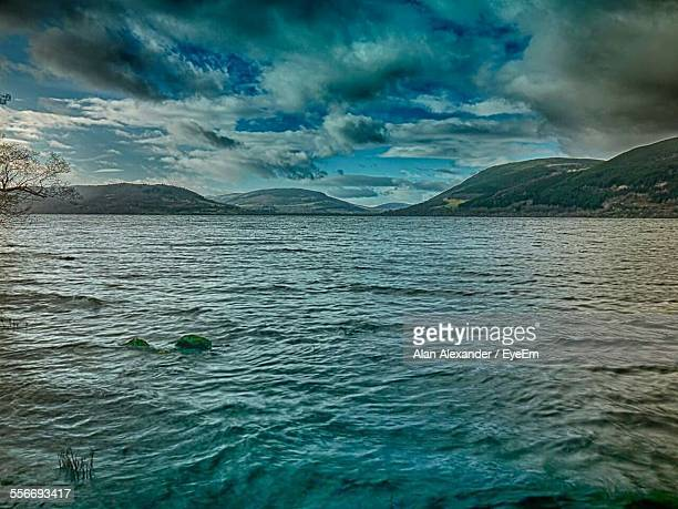 view of sea against cloudy sky - crieff stock pictures, royalty-free photos & images