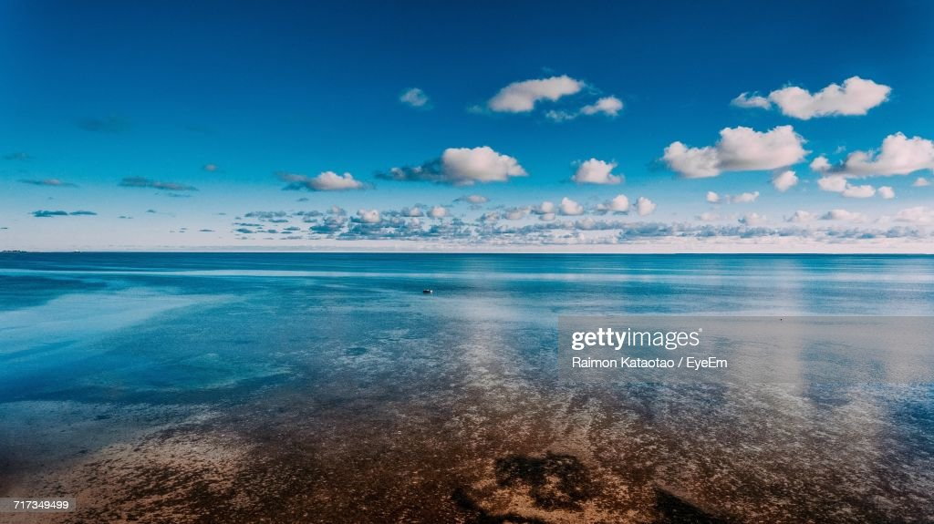 View Of Sea Against Cloudy Sky : Stock Photo