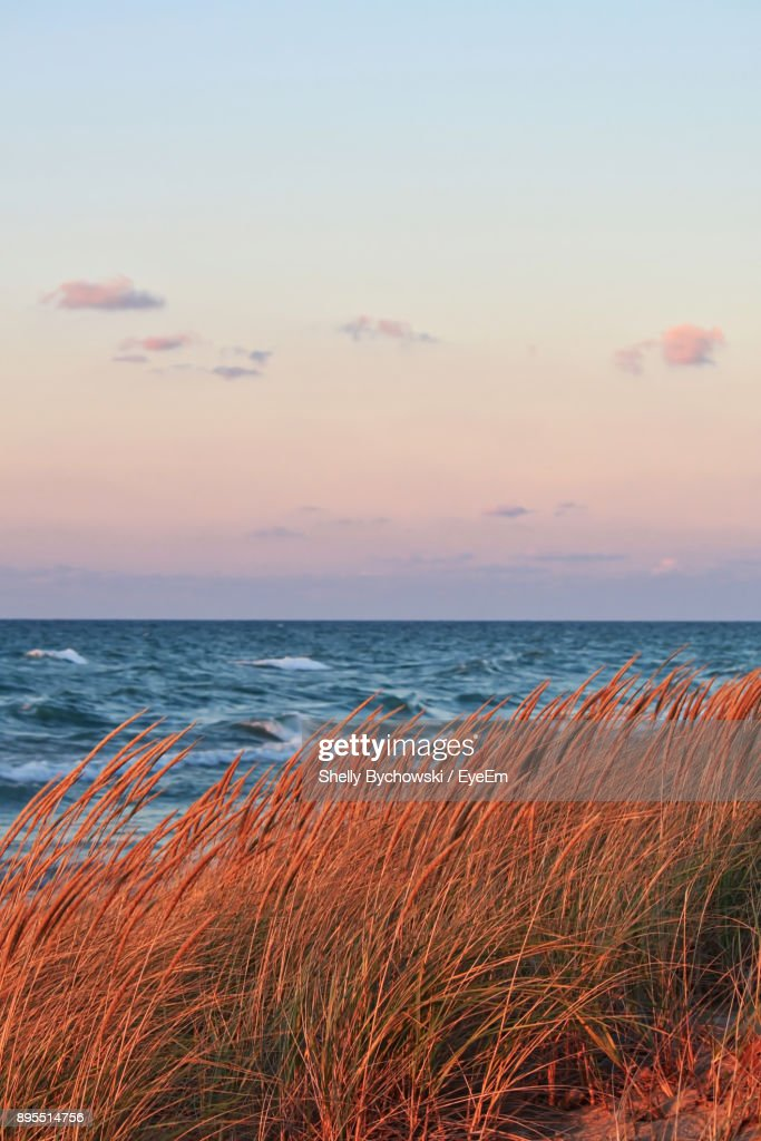 View Of Sea At Sunset : Stock Photo