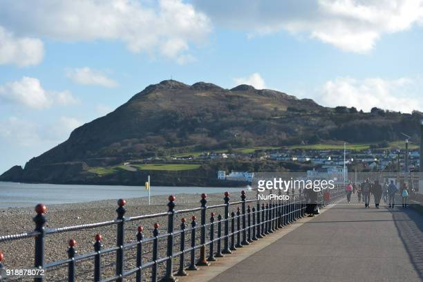 A view of sea front walk in Bray On Thursday February 15 Dublin Ireland