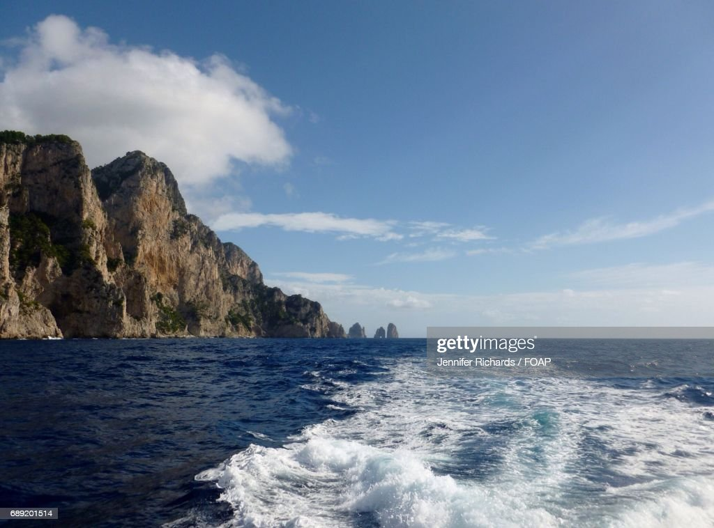 View of sea in Capri, Italy : Stock Photo