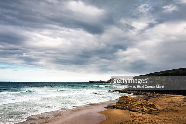 view of sea in liencres - iñaki mt stock photos and pictures