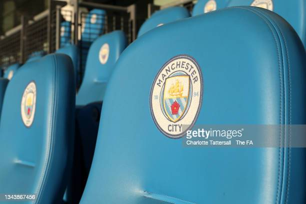 View of seats inside the stadium prior to the Vitality Women's FA Cup Quarter Final match between Manchester City and Leicester City at Manchester...