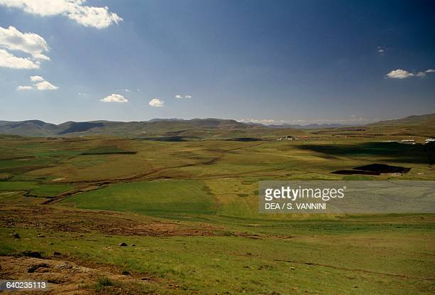 View of Semonkong Plateau Maseru District Lesotho