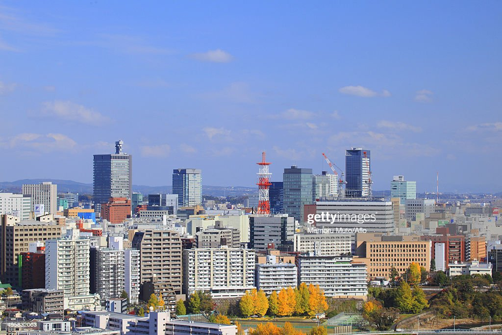 View of Sendai, Miyagi Prefecture, Japan : Stock Photo