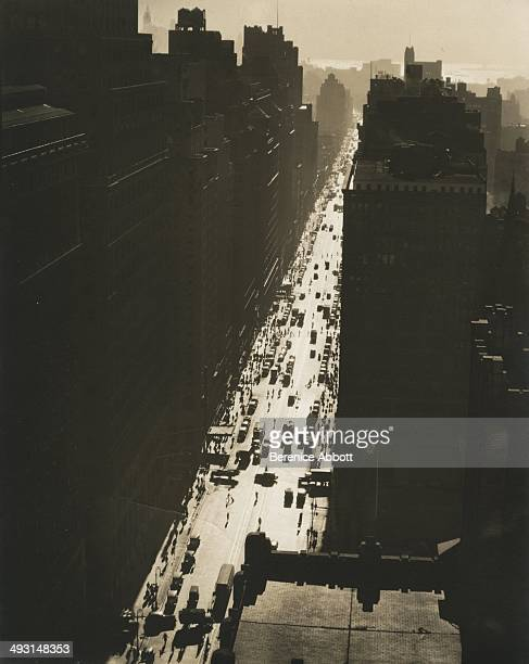 A view of Seventh Avenue looking South from 35th Street in circa 1938 in New York New York