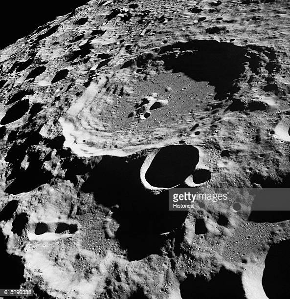 View of several of the Moon's craters taken from Apollo 11 while in lunar orbit July 1969 | Location Moon