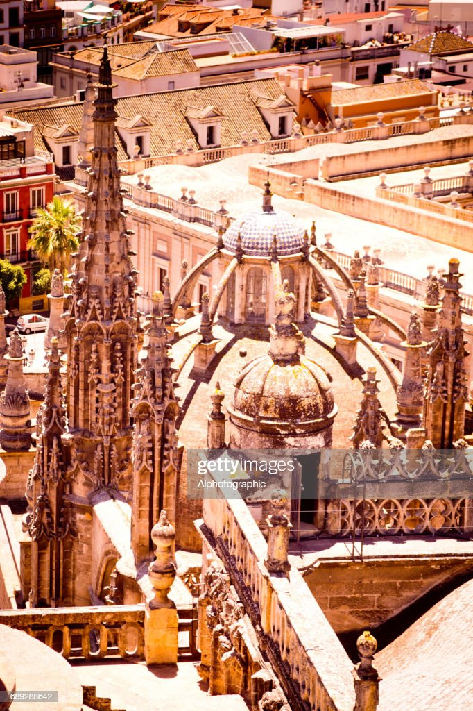 View of Seville from the Cathedral : Stock Photo