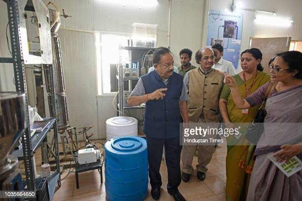 A view of Sewage to Biofuel Demonstration Plant using Barapullah Drain water inaugurated by Minister of Science and Environment Harsh Vardhan at Sun...