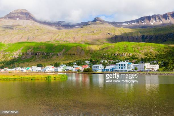 A view of Seydisfjordur, Iceland