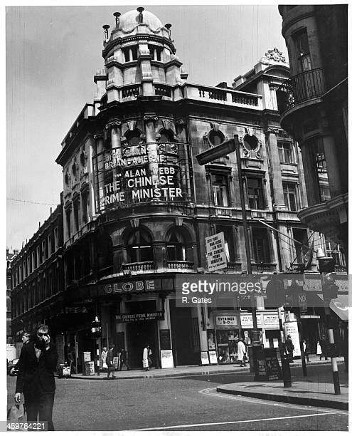 A view of Shaftsbury Square the Theatre District in London England Circa 1950