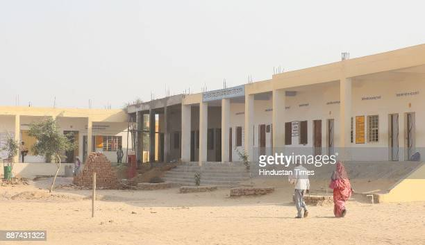 A view of Shaheed Balwant Singh Government Model Senior Secondary School in Ujholi Kot Kasim District Alwar on November 30 2017 in Alwar India A...