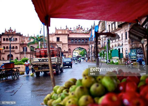 A view of Shaukat Mahal which can be seen from Sadar Manzil Gate on August 21 2015 in Bhopal India