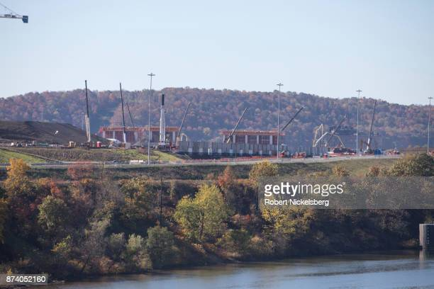 A view of Shell Chemical's new multi billiondollar ethane cracker plant processing plant across the Allegheny River can be seen under construction...