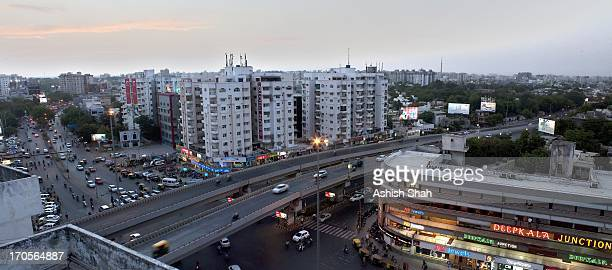 view of shivranjni cross roads, ahmedabad - ahmedabad stock pictures, royalty-free photos & images