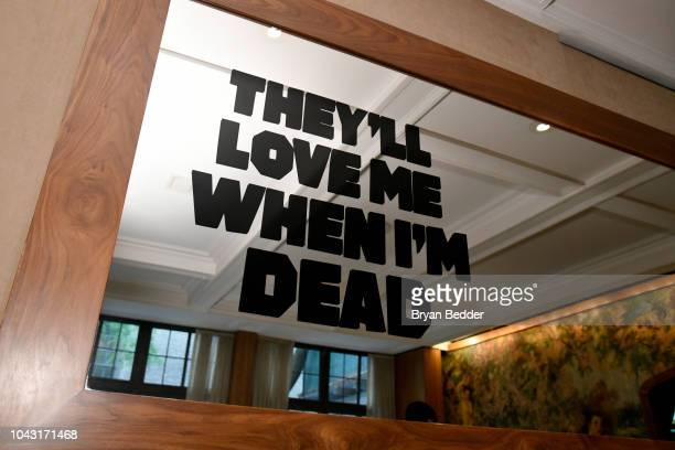 A view of signage on display during The Other Side of the Wind/They'll Love Me When I'm Dead Cocktail Reception during the NYFF on September 29 2018...